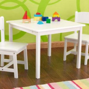 TABLE AND CHAIR 2 SEATER WHITE