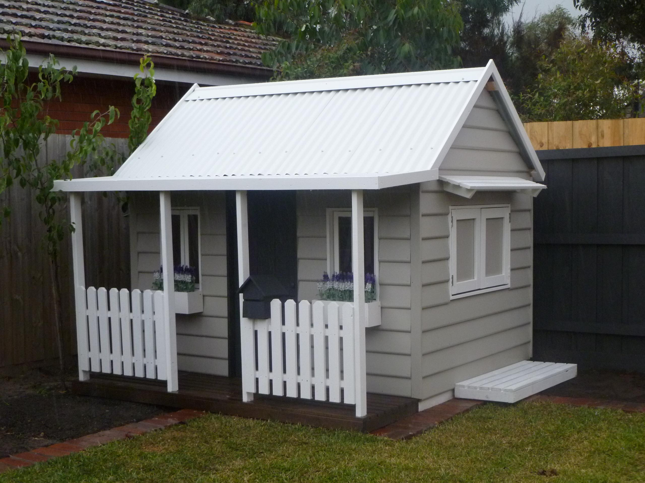 Painted Garden Shed Grey